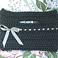 Crocheted Buttonhole Bag