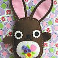 Blossom Bunny: chocolate with cream belly