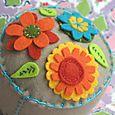 Garden Party Pincushion:  Tan