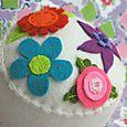 Garden Party Pincushion:  Cream