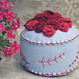 Pincushion: Bed of Roses (red)