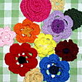 Garden variety of crocheted flowers