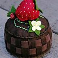 Strawberry basket pincushion