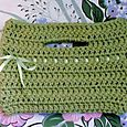 Spring Green Crocheted Buttonhole Bag