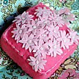 Pincushion: Pink Scattered Flowers