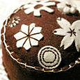 Pincushion: Folkloric (chocolate brown)