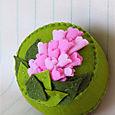 Pincushion: Pink Hyacinth