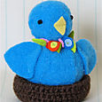 Spring Chick: Bright Blue