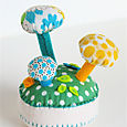 Pincushion:  Mushroom Forest Cream