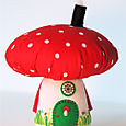 Mushroom House:  Red/White