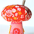 Mushroom House:  Orange/Pink