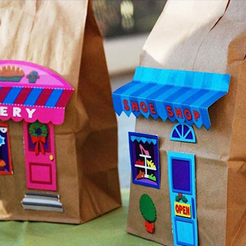 Paper Bag Buildings Things To Make And Do Crafts And Activities