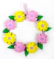 Egg-carton-wreath