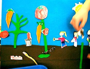 SewingSchoolgardenfeltboard
