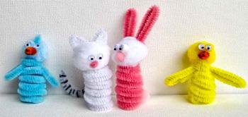 SparkPluggingeaster-finger-puppets