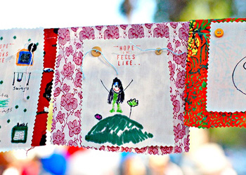 prayer flags craft with kids