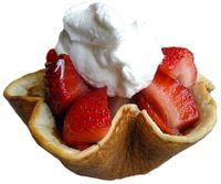 strawberry pancake cups