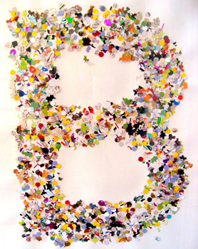Initial Wall Art confetti initial wall art - things to make and do, crafts and