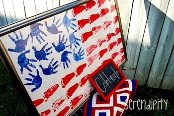 Serendipityfootprintflag