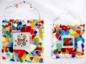 Mosaic Tile Frame Things To Make And Do Crafts And Activities For