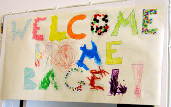 creative craft welcome home sign