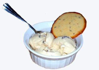 lavender and honey ice cream