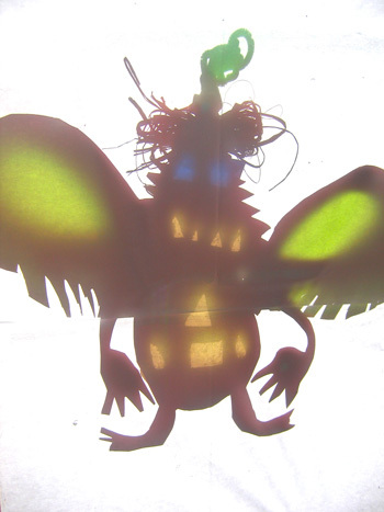 Where The Wild Things Are shadow puppet