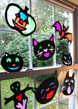 PinkAndGreenMamahalloweensuncatchers