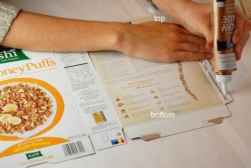 Bella Dia cereal box house glue body