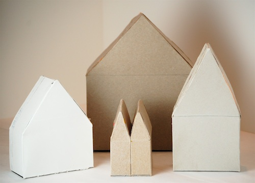 Bella Dia cereal box houses unfinished