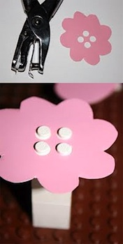 Diy paper and punch lego fun things to make and do for Pre punched paper for crafts