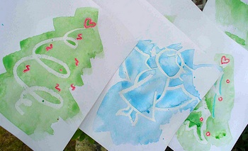 Child Made Christmas Cards Things To Make And Do Crafts And