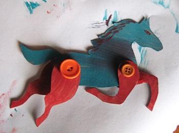 Christmas craft ideas preschool craft community blog for Horse crafts for kids