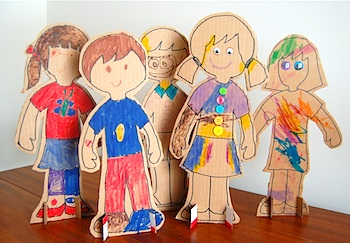 Cardboard Stand Up Dolls Things To Make And Do Crafts