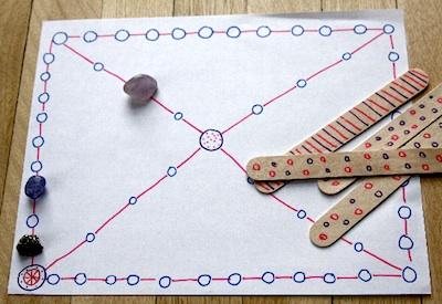 Yut-Nori gameboard & markers
