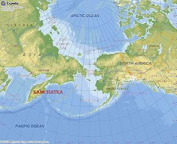 Russia Alaska map