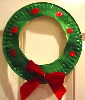 paper plate wreath & Wreaths For Kids To Make - Things to Make and Do Crafts and ...