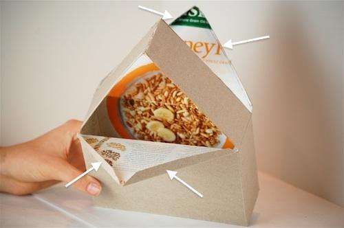 Bella Dia cereal box house fold flaps