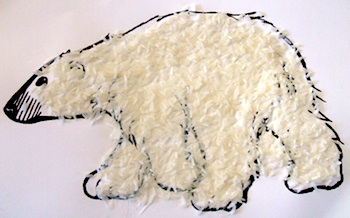 Textured Polar Bear Picture Things To Make And Do Crafts And