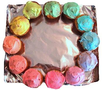 CleanMamacolorwheelcupcakes