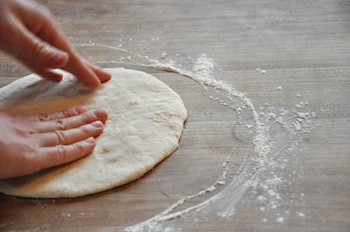 Italian pizza pat dough