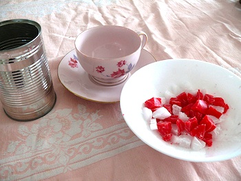 Here We Are Together teacup candle how to