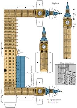 Paper Toys Big Ben