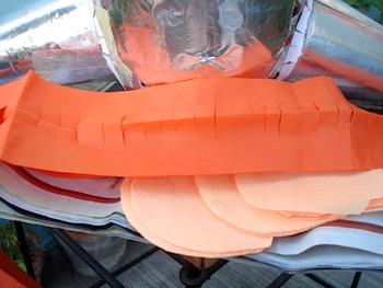 7 nick tissue paper strips