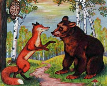 Russian fox fairy tale