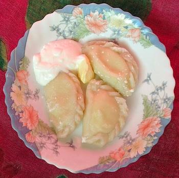 Russian dish vareniki