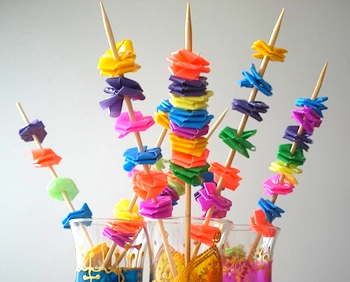 Flowers Made From Straws