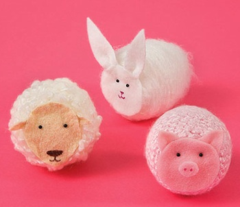 sheep bunny pig barnyard animal craft