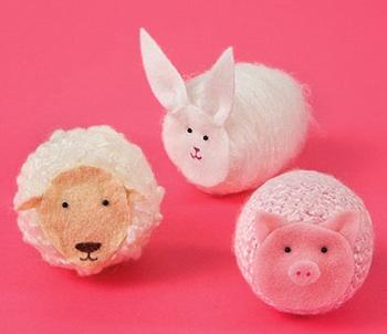 sheep bunny pig barnyard animal craft
