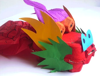 egg carton dragon